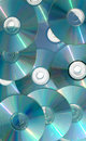 Cascading CDs Stock Images
