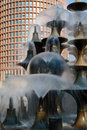 Cascading fountains Royalty Free Stock Image
