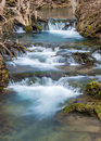 Cascading Mountain Trout Stream Waterfall - Virginia, USA Royalty Free Stock Photo
