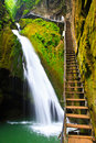 Cascading Waterfall, Dragon Gorge, China Stock Image