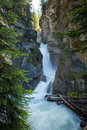 Cascading waterfall this is a near banff canada Stock Images