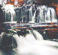 Cascading Waterfall New Zealand Atmosphere Concept Royalty Free Stock Photo