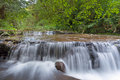 Cascading Waterfall over Ledge at Sweet Creek Falls Trail Royalty Free Stock Photo