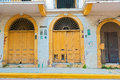 Casco viejo in panama city panama doors at the street at Stock Image