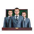 Case with business team Stock Photos