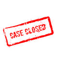 Case closed red rubber stamp isolated on white. Royalty Free Stock Photo