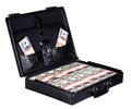 Case full of dollar on white background Royalty Free Stock Photo