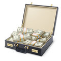Case full of money vector illustration on white background Royalty Free Stock Image