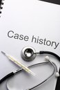 Case history Stock Photo