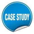 Case study round blue sticker Royalty Free Stock Photo