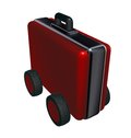 Case on wheels d illustration Royalty Free Stock Photography