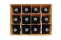 Case of Wine Bottles Royalty Free Stock Image