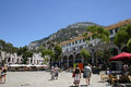 Casemates square is one of the two main areas people congregate in gibraltar currently for fun and entertainment Stock Photo