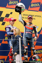 Casey Stoner wins the race Royalty Free Stock Photos