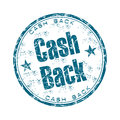 Cash back grunge rubber stamp Royalty Free Stock Photo