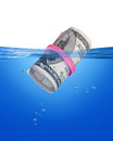 Cash bankroll floating large money Royalty Free Stock Images