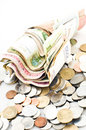 Cash and coins Royalty Free Stock Photo