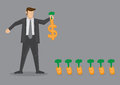 Cash Crop Business Vector Illustration Royalty Free Stock Photo