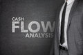 Cash flow analysis on blackboard black with businessman Royalty Free Stock Photography