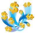 Cash flow dollar Royalty Free Stock Photo