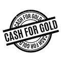 Cash For Gold rubber stamp Royalty Free Stock Photo