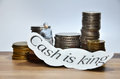 Cash is King words Royalty Free Stock Photo