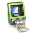 Cash machine dollar bill white d rendered image Stock Photography