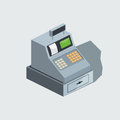 Cash machine isometric vector illustration