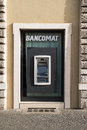 Cash machine in rome a bancomat Royalty Free Stock Images