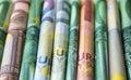 Cash money - euro bills , european money Royalty Free Stock Photo