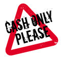 Cash Only Please rubber stamp Royalty Free Stock Photo