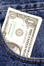 Cash in pocket Royalty Free Stock Photos