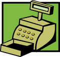 Cash register machine vector illustration Royalty Free Stock Photo