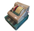 Cash register vintage on white background Royalty Free Stock Photo