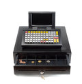 Cash Register on White Royalty Free Stock Photo