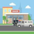 Cash transit security.