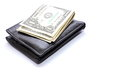 Cash on Wallet Royalty Free Stock Photo