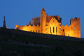 Cashel rock at night abbey of lighted tipperary ireland Stock Images