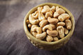 Cashews in a bowl Royalty Free Stock Photo