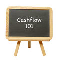 Cashflow the art of learning descibed on a chalkboard Royalty Free Stock Photos