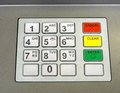 Cashpoint keypad generic on machines across the country Stock Images