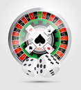 Casino all casino games winner concept Royalty Free Stock Photos