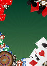 Casino background illustration of object with blank green space Royalty Free Stock Image