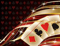 Casino banner with poker cards vector illustration Royalty Free Stock Photography