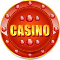 Casino banner for websites and other places Stock Image