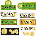 Casino button Royalty Free Stock Photography
