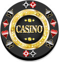 Casino chip for websites and other places Royalty Free Stock Image