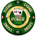 Casino chip for websites and other places Royalty Free Stock Photography