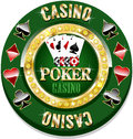 Casino chip for websites and other places Stock Photography