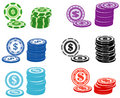 Casino chips Royalty Free Stock Photos